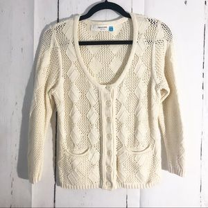 Anthropologie • Sparrow Cream Cardigan